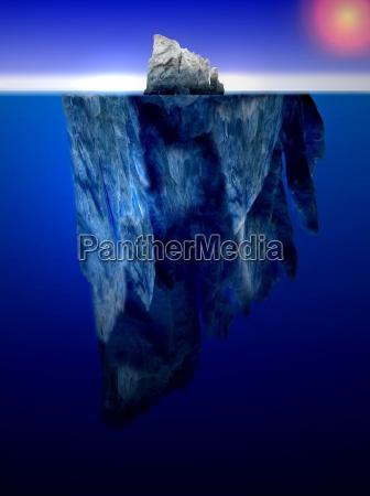 freddo ghiaccio sottacqua iceberg acqua salata