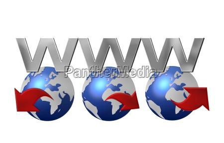 globo terra pianeta internet worldwideweb www