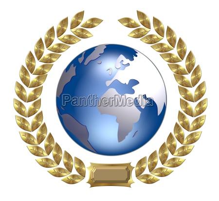 earth laurel wreath