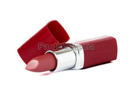 rossetto rosso su sfondo bianco