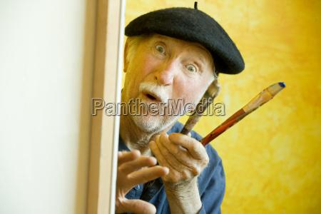 spazzola creativo eccentrico berretto basco spennellare