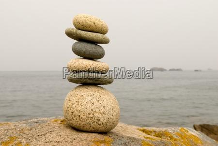 benessere equilibrio impilati minerale