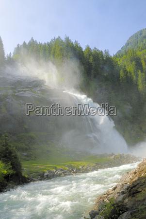 austria cascata montagna krimml tauern gerlos