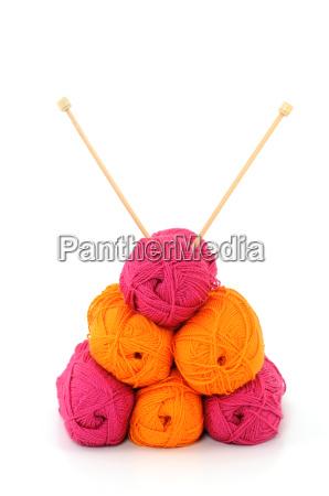 lana lavorare a maglia gomitolo di