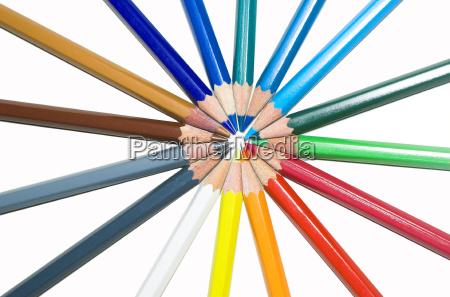 colorate matite colorate posati in modo