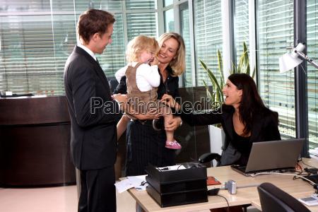 madre al lavoro