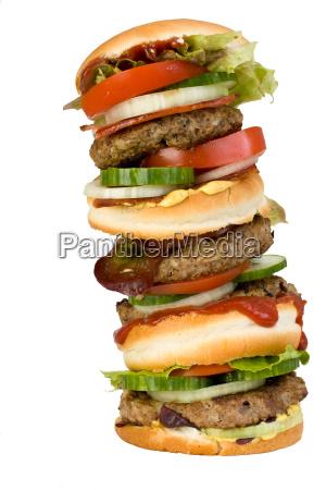 cibo fast food panino rosetta hamburger