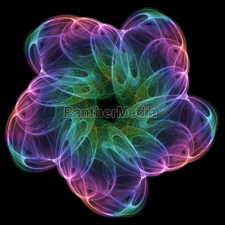 fiore nero astratto unico tingere astrarre