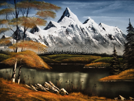 mountains painted