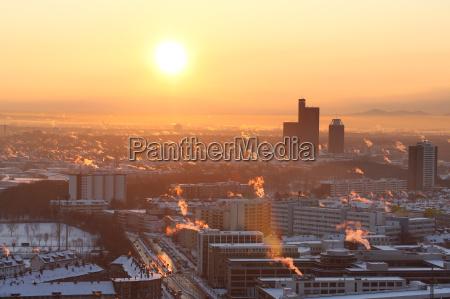 inverno foschia alba smog inquinamento riscaldamento
