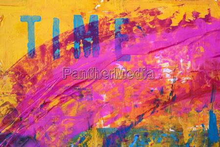 pittura astratta con testo