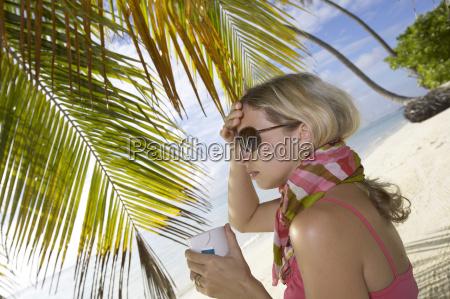 donna te tea vacanza vacanze catarro