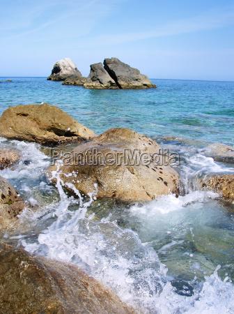 spiaggia, rocciosa - 1864843
