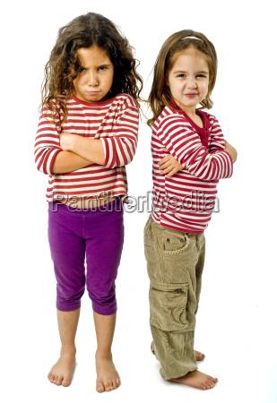 due ragazze in litigio