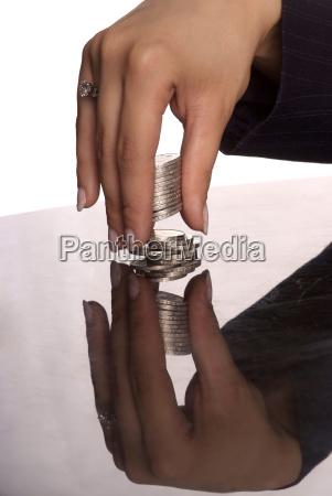 hand hands coin business dealings deal