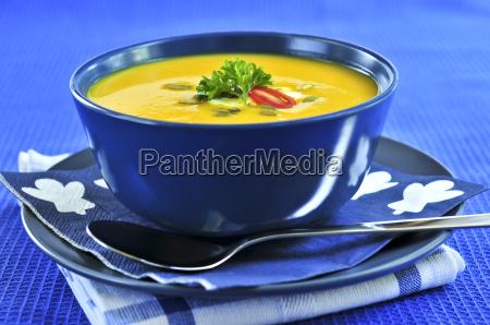 caldo vegetariano squash schiacciare zuppa ciotola