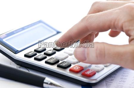 calcolatore imposte e penna