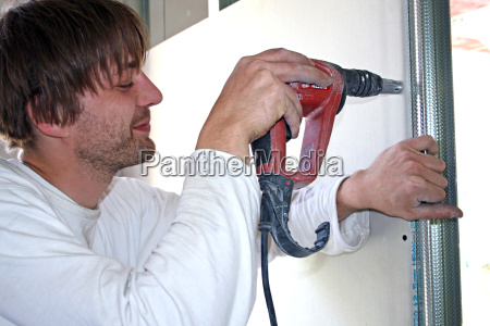 dry builder attaches regipsplatte