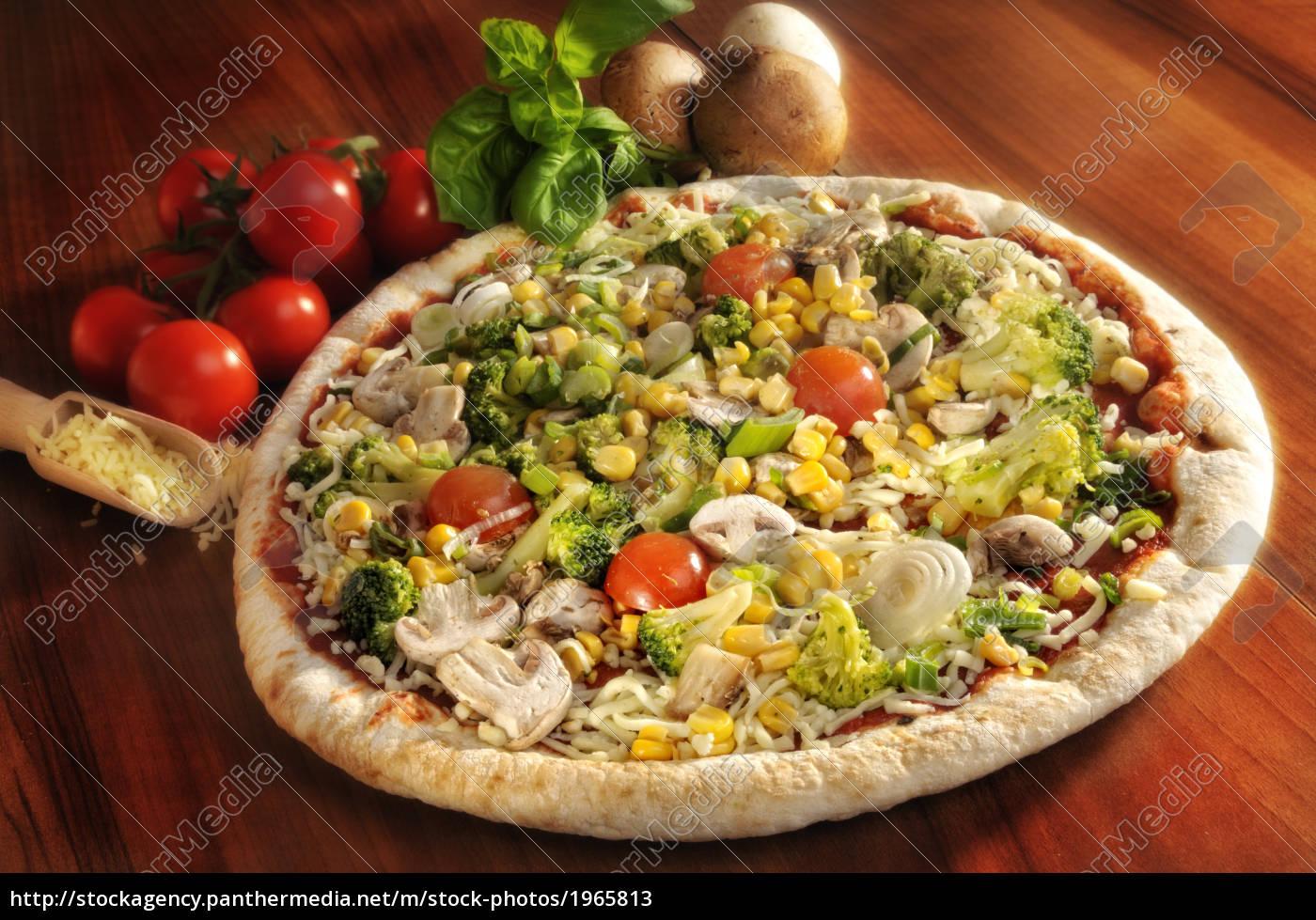 pizza, condita, con, verdure - 1965813