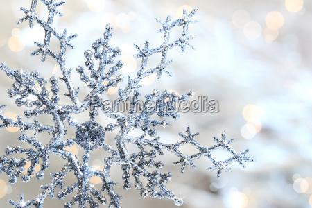 argento blu fiocco di neve