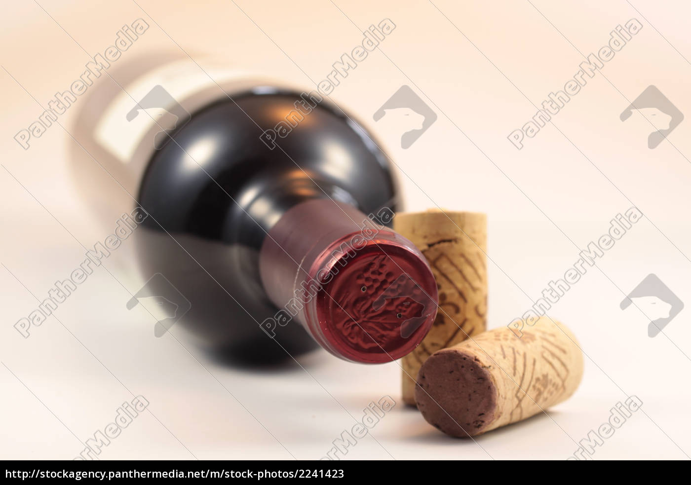 bottiglia, di, sughero, e, vino - 2241423