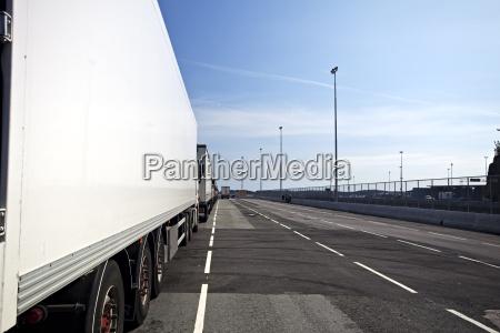 laterale di un camion in un
