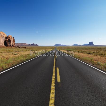 aperto deserto autostrada