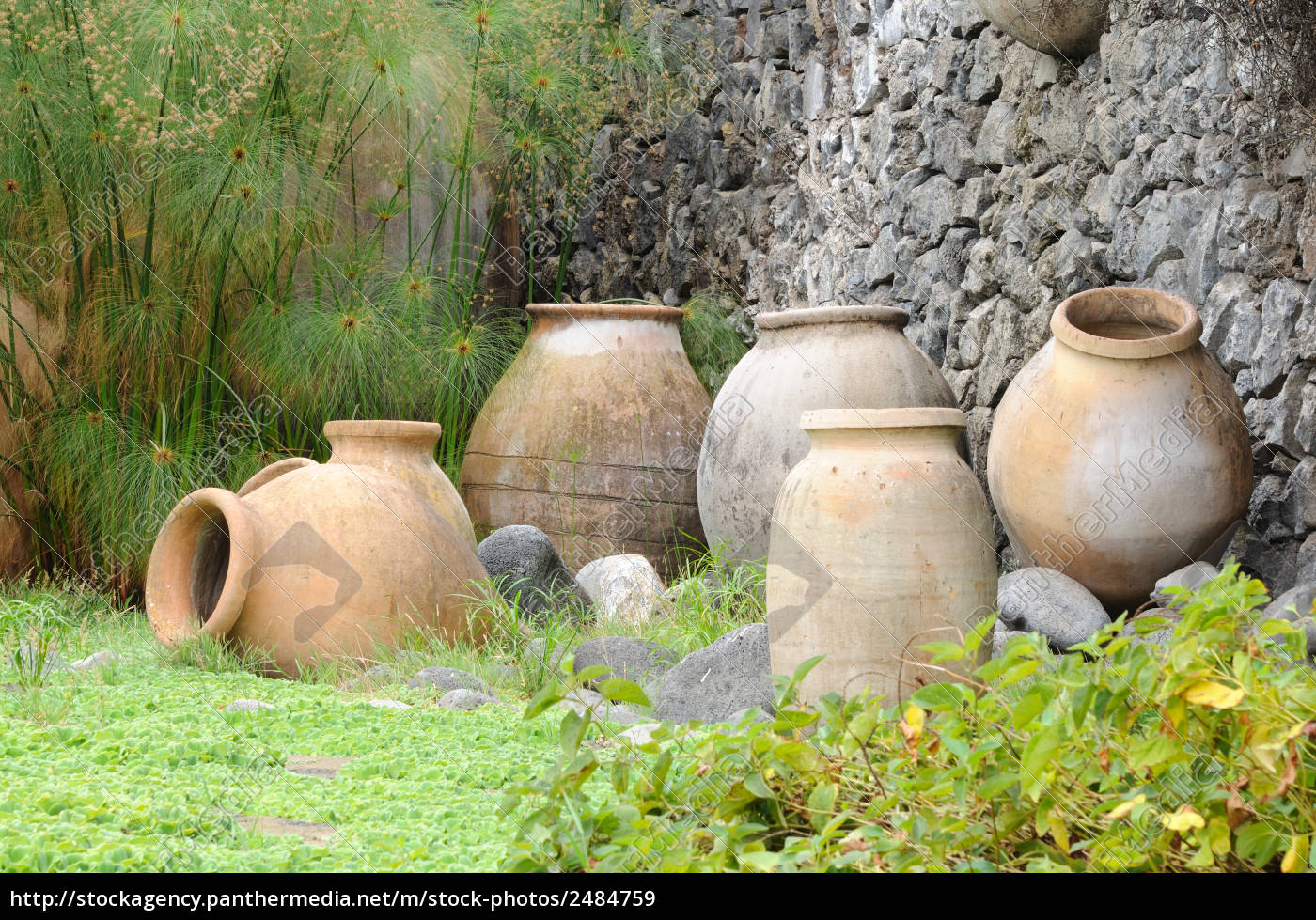 anfore in giardino stockphoto 2484759 comprate