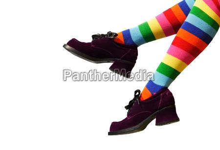 gambe rilasciato scarpe appartato scarpe col
