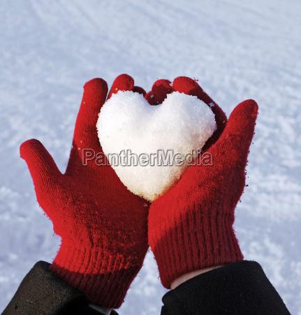 inverno guanti palla di neve amare