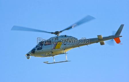 blu elicottero mannaia prendere aria aria