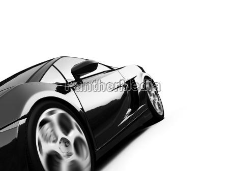 isolato sport visualizza auto
