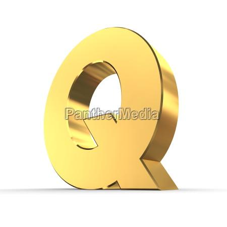 lucido lettera q di oro