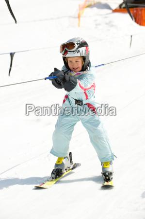 girl in ski lift