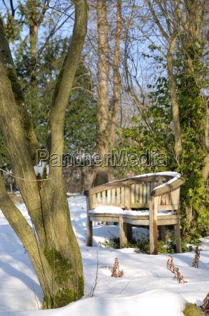 giardino inverno gelo giardini sede legno
