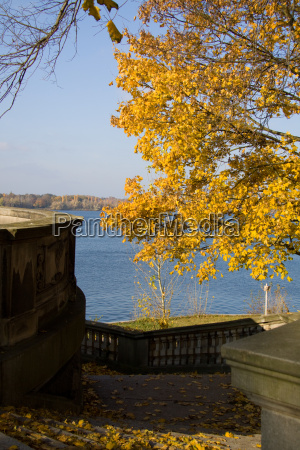 autumn railings