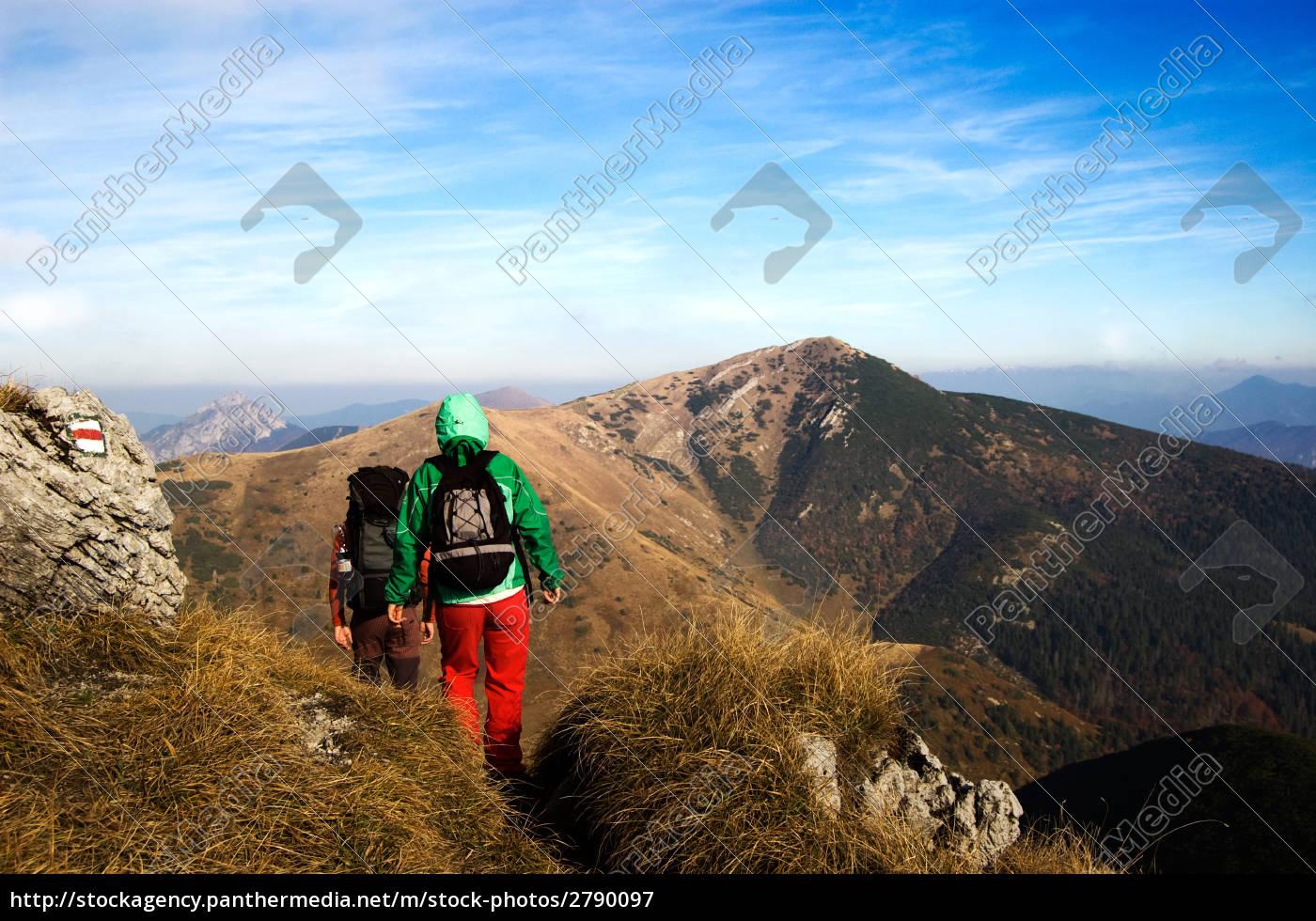 arrampicata, in, montagna, stagione, autunnale - 2790097