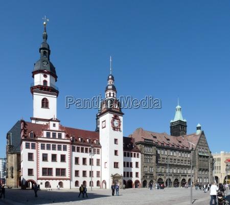 chemnitz vecchio e nuovo municipio
