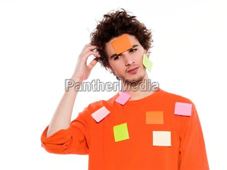 nota annotare ritratto appiccicoso adesivo pensiero