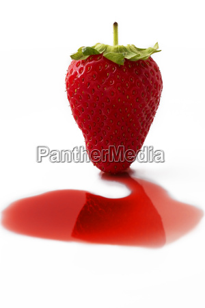 a strawberry syrup
