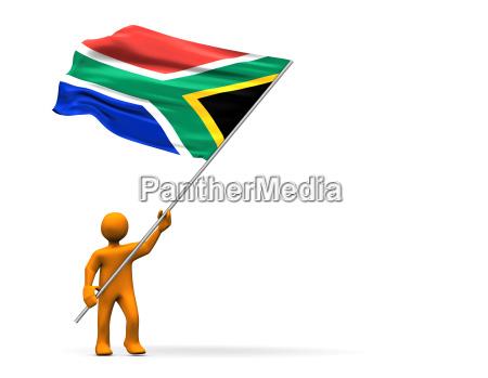 africa bandiera sud africano sport dello