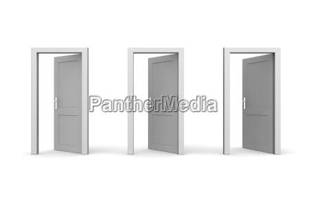 tre grigio open doors