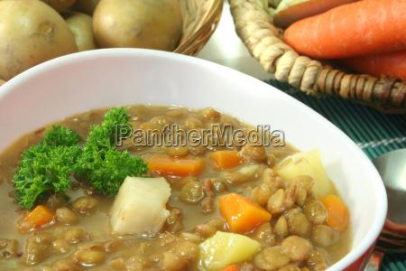 lente prezzemolo minestrone cucina casalinga zuppa