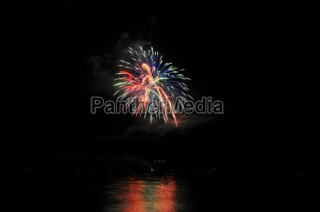 colorato cromatico esplosione fuoco dartificio fuochi