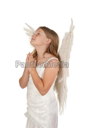rilasciato pregare angelo angeli appartato isolato
