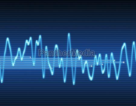blu suono audio suonare eco grafico