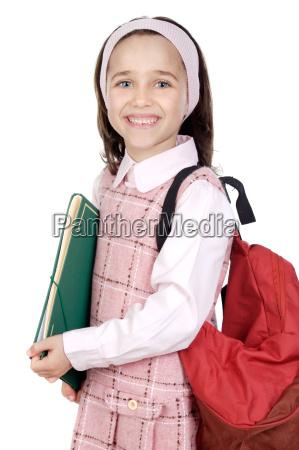 zaino studente adorabile partecipante a un