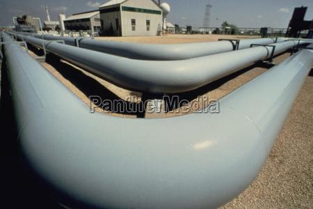 stazione di pompaggio di gas naturale