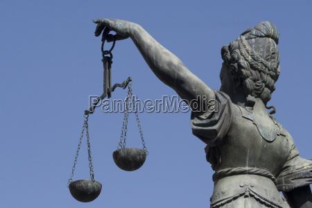 fontana di justizia alla frankfurt romana