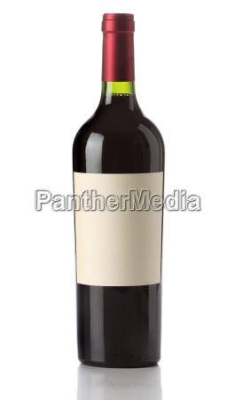 bottiglia di vino isolata